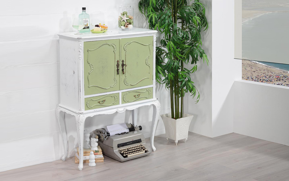 Mobile Bar Shabby Chic.Glamour We Love Old Furniture